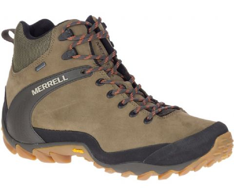 Merrell Mens Chameleon 8 Leather Mid Gore-Tex Boot - Waterproof